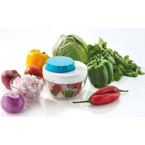 Floraware Vegetable Easy Cut and Chop Chopper, Blue Vegetable Grater & Slicer(1)