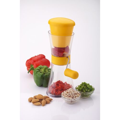 Amiraj Chilly & Nut Cutter- Yellow Vegetable & Fruit Chopper(1 Vegetable Chopper)