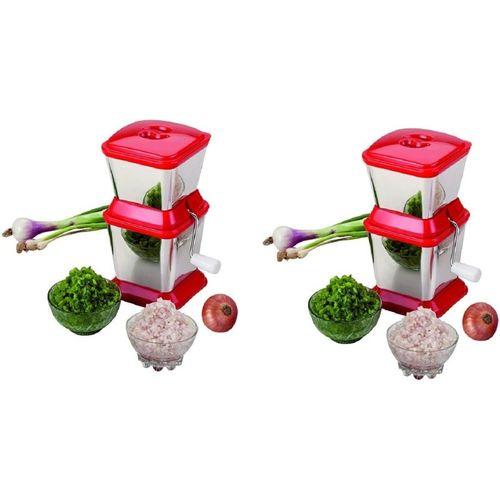 VIVAAN Premium stainless steel Vegetable Onion & Fruit Chopper Vegetable Chopper(2)