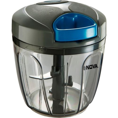 Nova NHC Grey Plastic Handy Vegetable & Fruit Chopper(1 Chopper with Whisker, 900Ml))