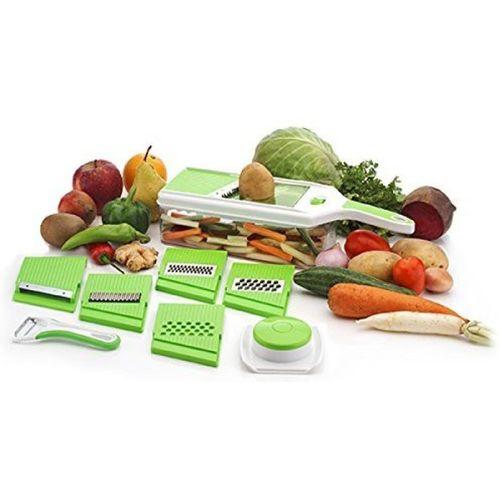 Bluewhale New Fruit & vegetable 6in1 Magic Slicer Chopper Vegetable & Fruit Slicer(1 PC 6IN1 MAGIC SLICER)