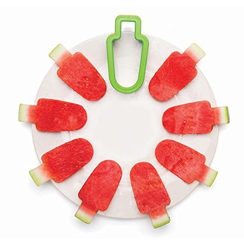 vepson Set of 2Pc Stainless Steel Watermelon Slicer Ice Cream Lollies Shape Cutter