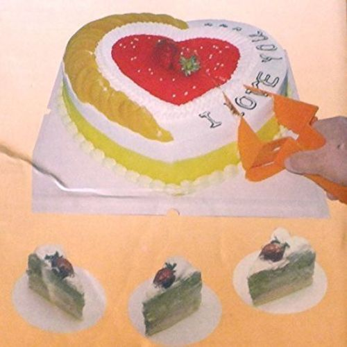 Vepson Triangle Shape Plastic Adjustable Cake Cutter Server Knife