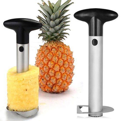 vepson Stainless Steel Pineapple Corer Cutter (Silver)