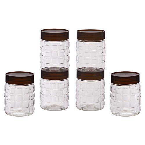 Steelo Plastic PET Container Set, 300ml, Set of 6, Maroon