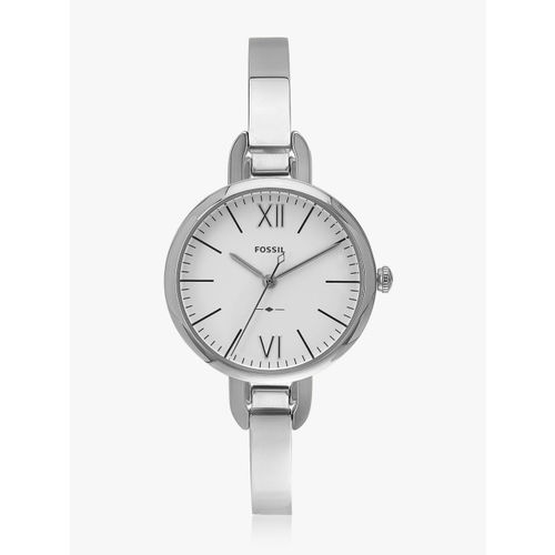 Fossil Women Silver-Toned & Silver-Toned Analogue Watch