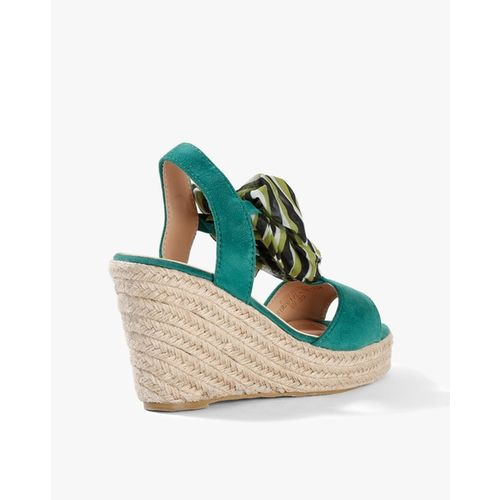 AJIO Slingback Wedges with Tie-Up