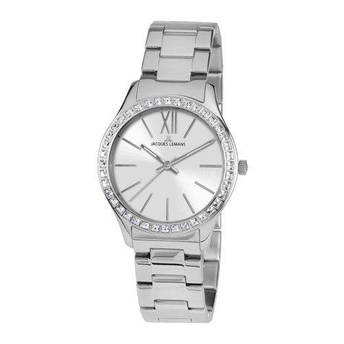 Jacques Lemans Women Silver-Toned Analogue Watch 1-1841F