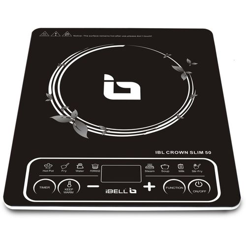 iBELL Crown Slim 50 2200-Watt Induction Cooktop(Black, Push Button)