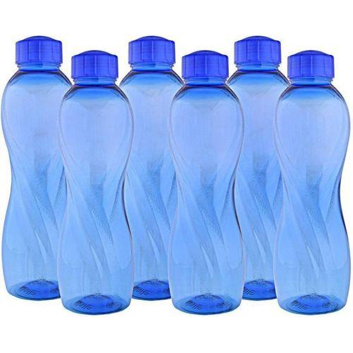 Cello Twisty Fridge 1000 ml Bottle(Pack of 6, Blue)