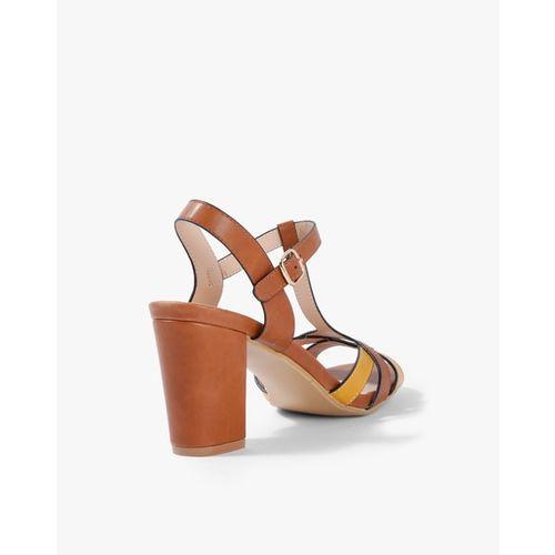 AJIO Colourblock Chunky Heeled Sandals