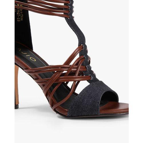 AJIO Multi-String Gladiator Stilettos