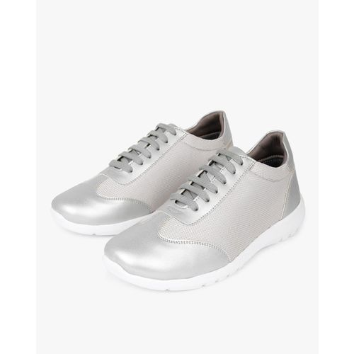 AJIO Panelled Metallic Casual Lace-Up Shoes