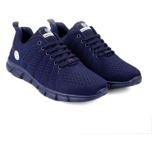 Bacca Bucci Casual Sports Shoes AIR Trainers-Gym Walking Running Athletic Competition Knitted Textile light Weight Sport Sneakers - Blue Running Shoes For Men(Blue)