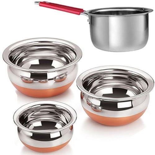 Jalpan Serving & Cookware - Handi 3 Pcs. - 1250ml, 750ml, 500ml.
