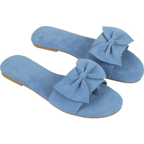 BK DREAM Blue Synthetic Slip-On Flats Chappals