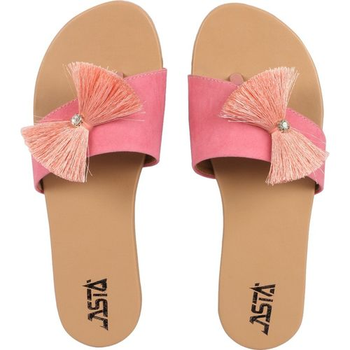 Jasta Women Pink Flats