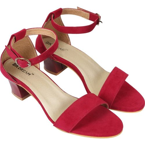 BK DREAM Women Maroon Heels