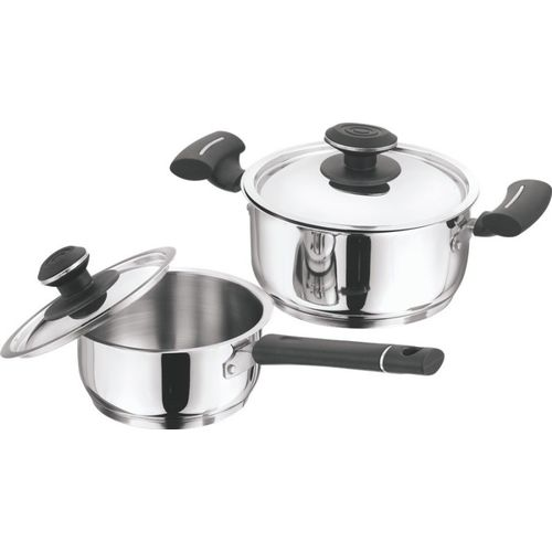 Vinod 2 Pc Tivoli Set Induction Bottom Cookware Set(Stainless Steel, 2 - Piece)