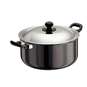 Hawkins Futura Black Aluminium L33 Hard Anodised Cook and Serve Stewpot