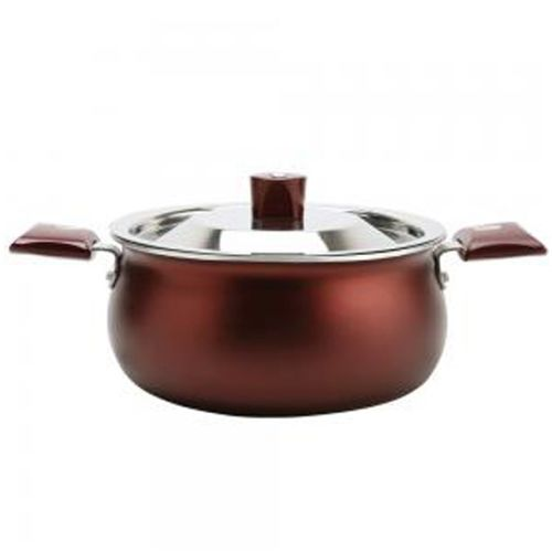Nirlep Selec + J Class Handi 4 L with Lid(Aluminium, Non-stick, Induction Bottom)