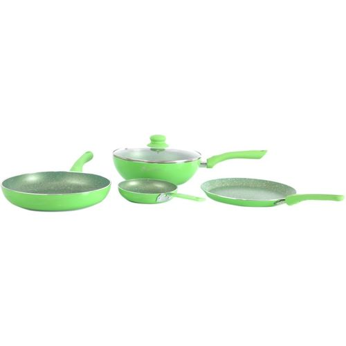 Wonderchef Royal Velvet Green Set of 4Pcs - Induction Base Induction Bottom Cookware Set(Aluminium, 4 - Piece)