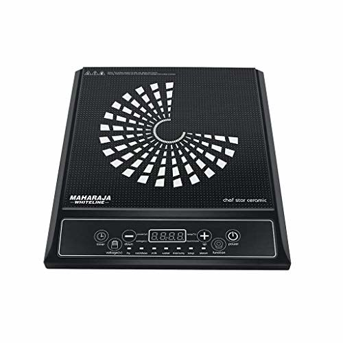 Maharaja Whiteline Chef Star Ceramic IC-108 1400-Watt Induction Cooker (Black)