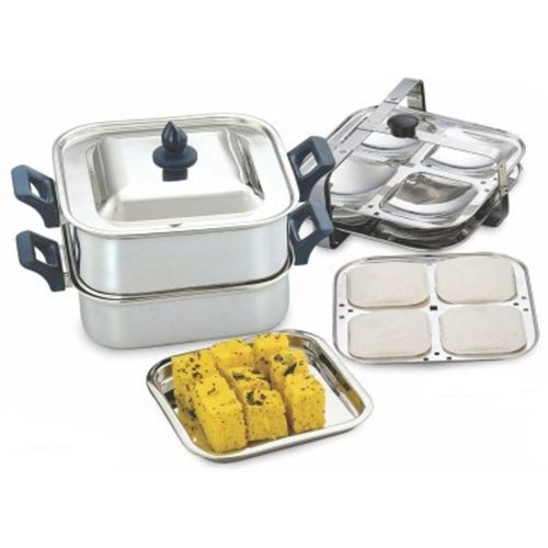 KCL Classica Dhokla & Square Idly Induction & Standard Idli Maker(6 Plates , 12 Idlis )