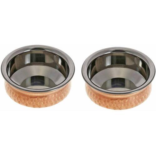 Prisha India Craft Copper Hyderabadi Bowl Handi 0.3 L(Stainless Steel)
