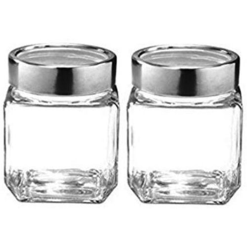 Treo - 580 Glass Grocery Container, Spice Container, Tea Coffee & Sugar Container(Pack of 2, Clear)