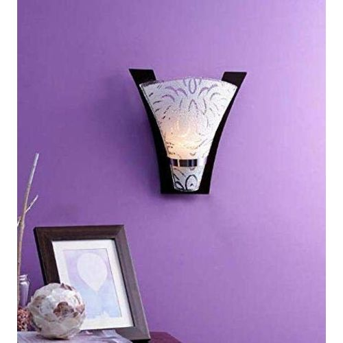 WHITERAY Exotic Premium Floral Designed Wooden Wall Light Lamp