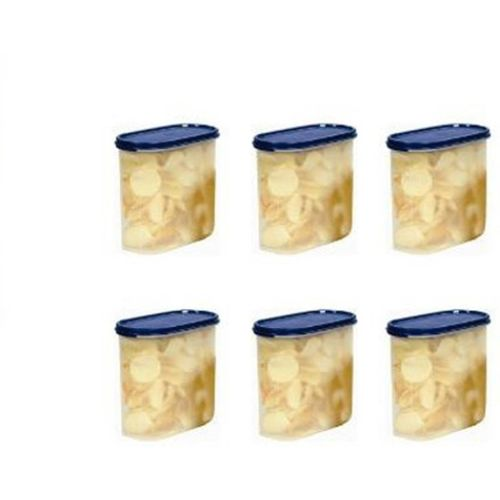 Signoraware Modular Cont Oval No.3. Set/6 - 1700 ml Plastic Grocery Container(Pack of 6, Blue)