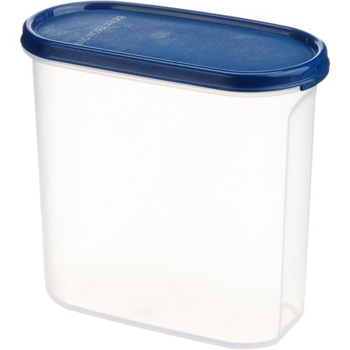 Signoraware Modular Container Oval No.3 Container, 1.7 Litres - 1.7 L Plastic Grocery Container(Blue)