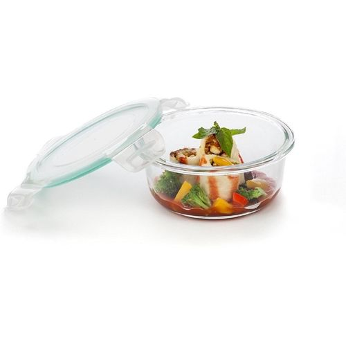 Signoraware - 620 ml Glass Grocery Container(Clear)