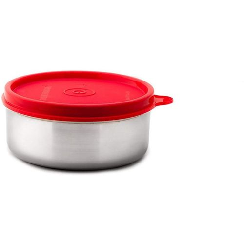 Signoraware - 350 ml Steel Grocery Container, Fridge Container(Red)