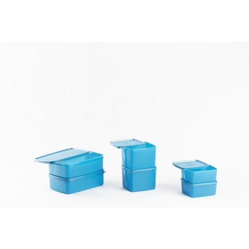 Signoraware Smart Fridge - 500 ml, 850 ml, 1200 ml Plastic Grocery Container, Fridge Container(Pack of 6, Blue)