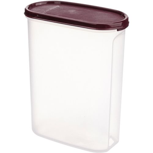 Signoraware Modular Container Oval No. 4 Container, 2.3 Litres - 2.3 L Plastic Grocery Container(Maroon)