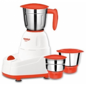 Maharaja Whiteline APEX (MX-158) 500-Watt Mixer Grinder 500 W Mixer Grinder(Blissful saffron & White, 3 Jars)