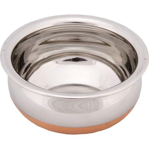 Bhalaria Copper Bottom Chetty NA Pan 18 cm diameter(Aluminium, Glass)