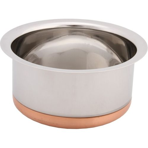 Bhalaria Copper Bottom Tope 14 NA Pan 22 cm diameter(Aluminium, Glass)