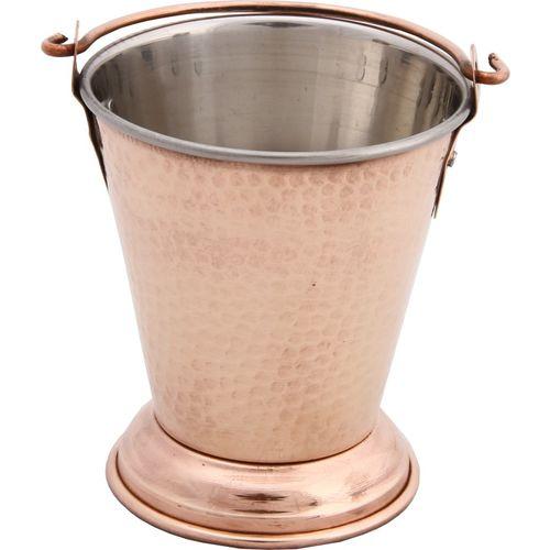 Bhalaria Copper Outside Ss Inside Bucket No 1 Handi 0.4 L(Aluminium, Glass)