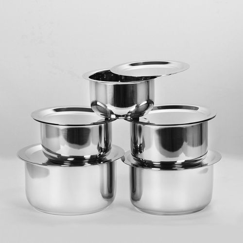 Bhalaria Pot 1 L with Lid(Stainless Steel)