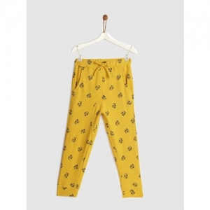 Yk Track Pant For Boys(Yellow, Pack of 1)