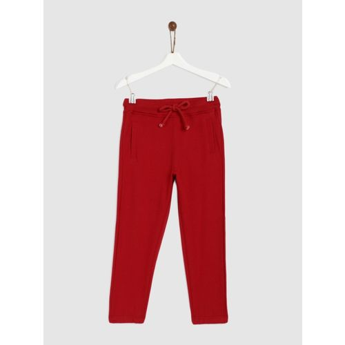 Yk Track Pant For Boys(Red, Pack of 1)