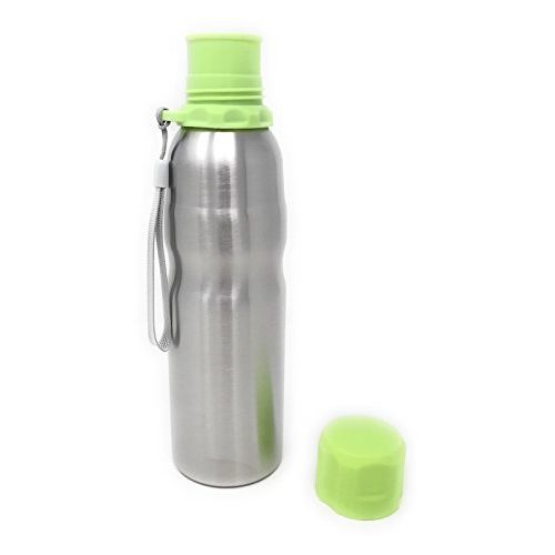 Pigeon Sapphire Stainless Steel Water Bottle 750 ml (Silver With Green)
