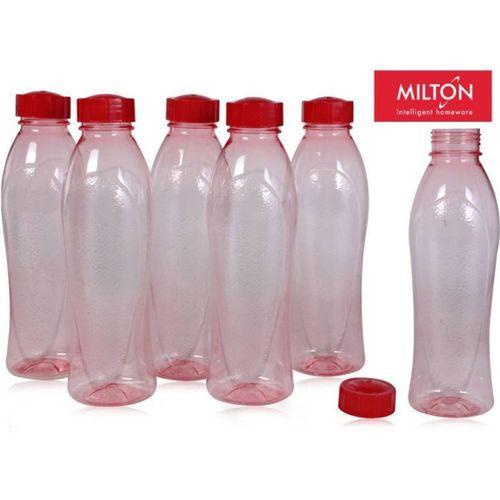 Milton Fridge Bottle / Water Bottle Set of 6 Bottles 1000 ml Bottle(Pack of 6, Multicolor)