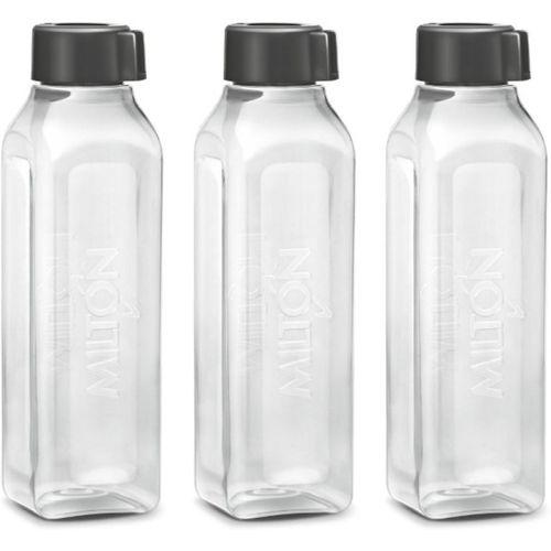 Milton TETRA PET BOTTLE 1000 ml Bottle(Pack of 3, Black)