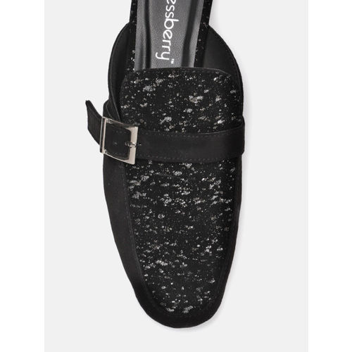 DressBerry Women Black Printed Mules