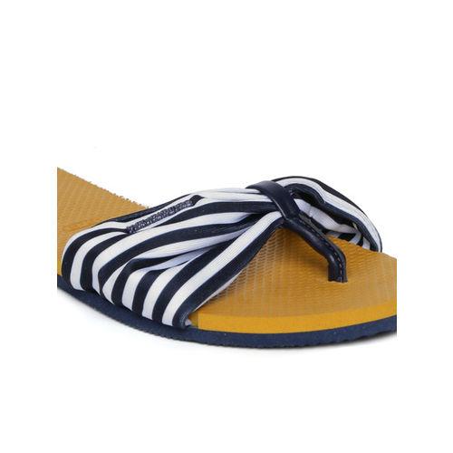 Havaianas Women Navy Blue Solid Open Toe Flats