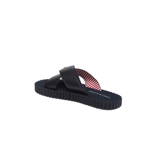 Tommy Hilfiger Women Navy Blue Solid Open Toe Flats